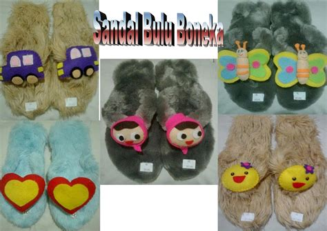 sandal bulu boneka dari dna collection di sandal wanita