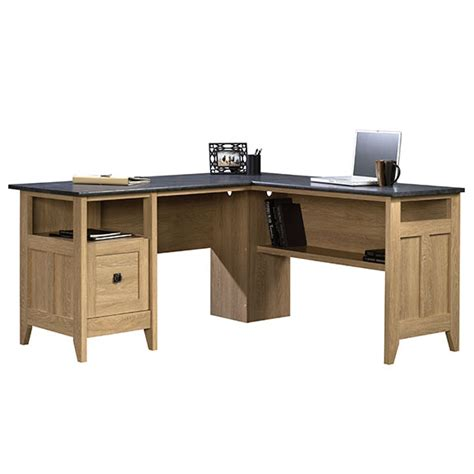 Sauder L Shaped Desks sauder august hill l shaped desk 412320 free shipping