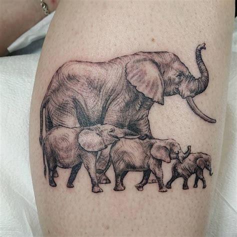 tattoo elephant chain fun little elephant family tattoo tonight ty