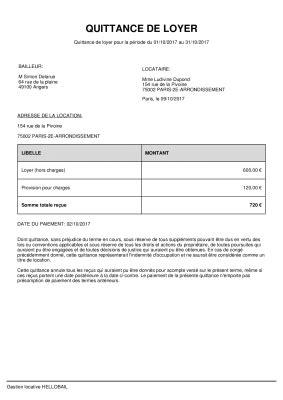 Quittance de loyer PDF et WORD : modèle à télécharger