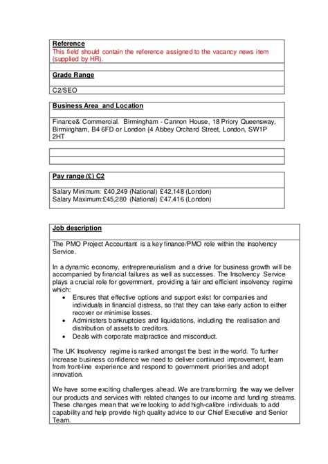 Project Accountant Description by Jd Project Accountant Jan 16