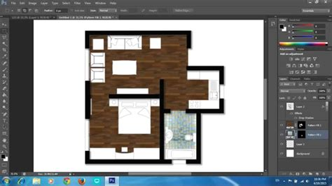 layout plan photoshop adobe photoshop cs6 rendering a floor plan part 1