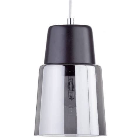 ceiling glass shade scandi ceiling pendant with smoked glass shade black