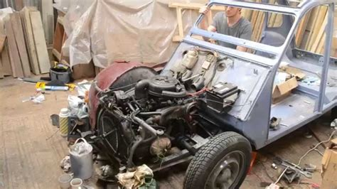 Citroen 2cv Engine by Citro 235 N 2cv Engine Start