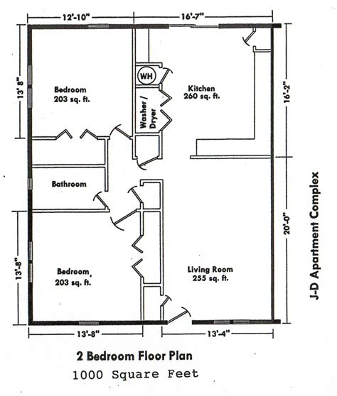 Floor Plan 2 Bedroom House | bedroom floor plans over 5000 house plans