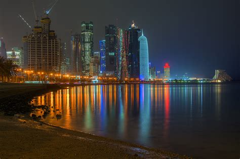 the corniche photo 1225 17 view of west bay from corniche promenade at