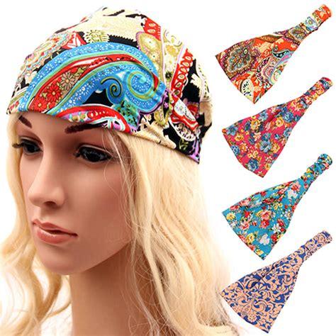 Bandana Headband Bando Murah items boho floral wide bandana headband elastic hair band in hair accessories from