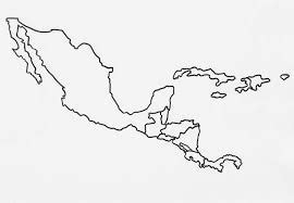 blank map of central america and south america central america window
