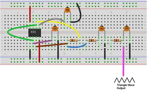 how to build a triangle wave generator circuit