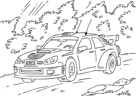 coloring pages of rally cars malvorlage rallyeauto ausmalbild 27170