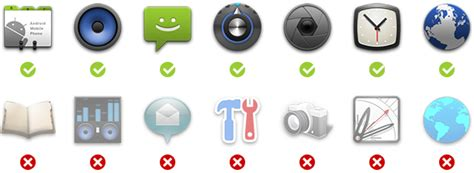 icon design guidelines android launcher icons archive android developers