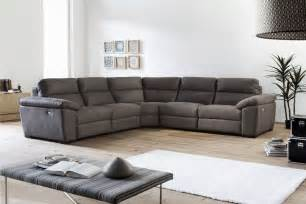 Corner Sofas With Recliners Fabric Sofa Bed In A Versatile Peppered Grey Bed Mattress Sale