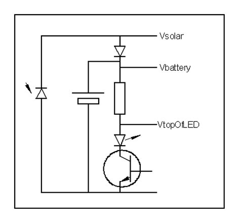 solar garden light circuit image
