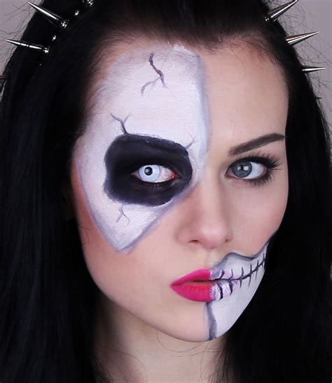 skeleton  skull makeup tutorial  halloween easy