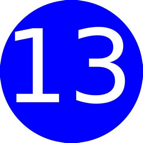 s day number 13 number 13 blue background clip at clker vector