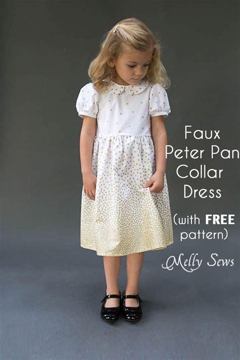 cute dress pattern free faux peter pan collar dress with free pattern peter