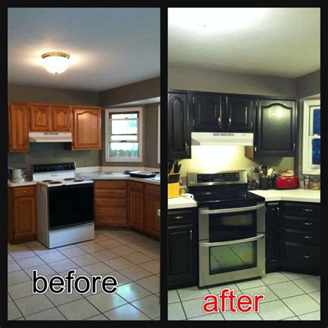 stained cabinets  java gel stain  easy