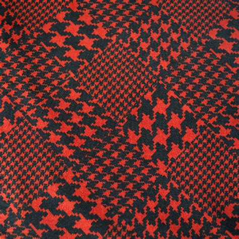 patterned jersey fabric red and black dogtooth patterned jersey dressmaking fabric