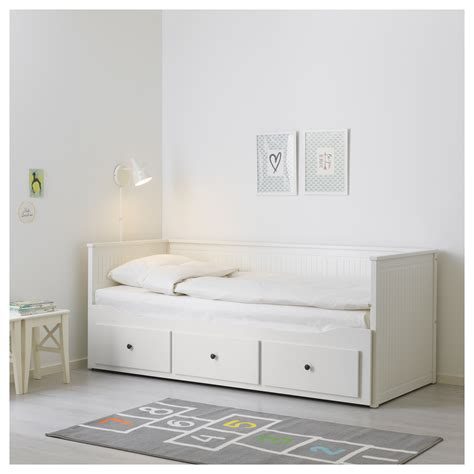 ikea hemnes letto hemnes day bed frame with 3 drawers white 80 x 200 cm ikea