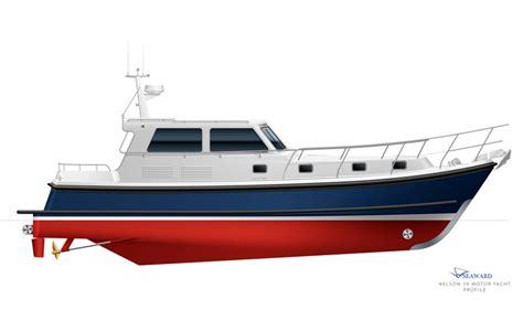 small displacement motor boat seaward 39 motor cruiser to launch at southton motor