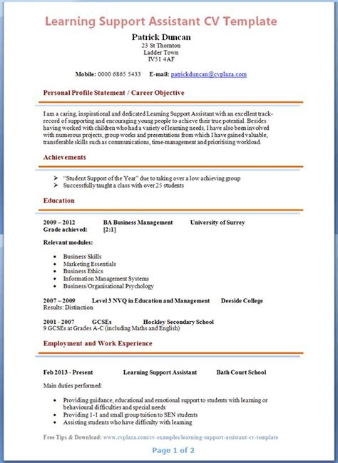 Learning Support Assistant Cover Letter by Best 25 Teaching Assistant Cover Letter Ideas On Application Letter For