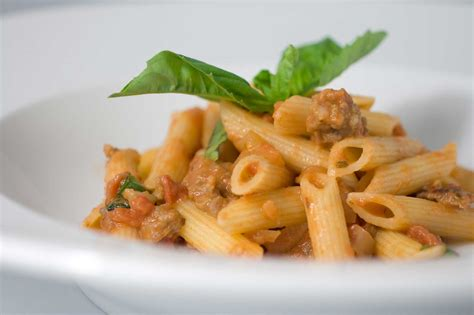 italian dishes recipe for tomato penne with italian sausage