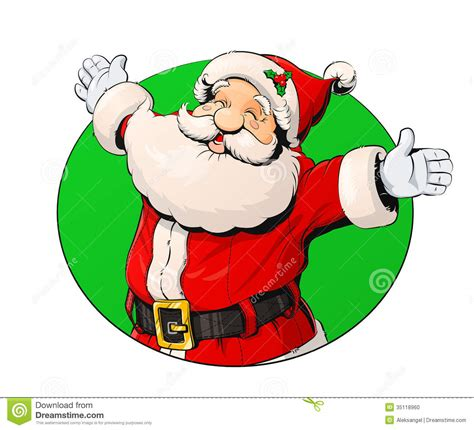 smiling santa claus stock vector image of seasonal