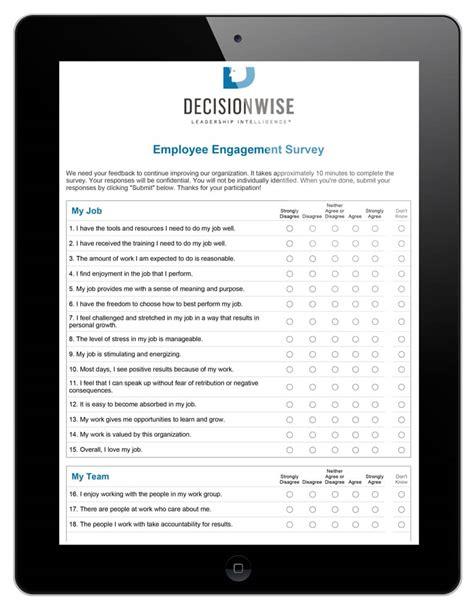 Employee Engagement Surveys For Large Companies Decisionwise Employee Engagement Survey Plan Template