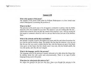 Sonnet 130 Analysis Essay by Sonnet 130 Analysis Essays Bibliographyannotated X Fc2