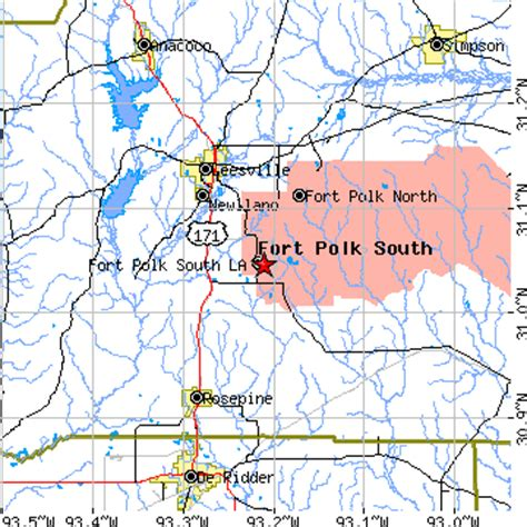 fort polk louisiana map fort polk south louisiana la population data races