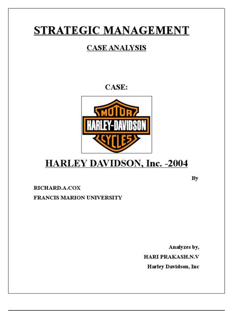 harley davidson strategic management changed new
