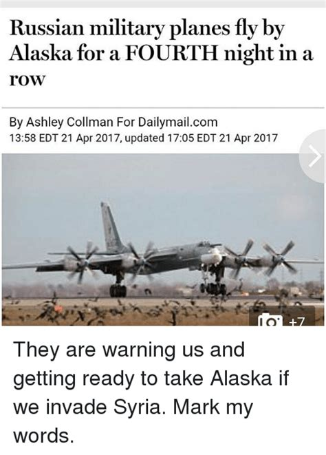 Russian Army Meme - russian military planes fly by alaska for a fourth night
