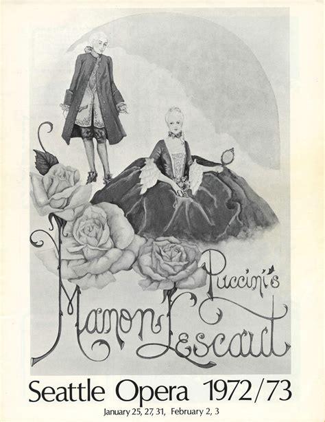 House Plan Shop 1972 73 Manon Lescaut Program Seattle Opera 50th