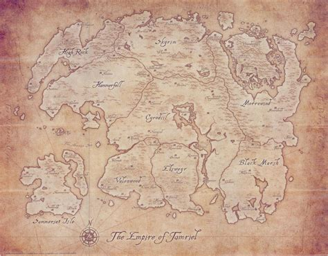 elder scrolls map tamriel the imperial library