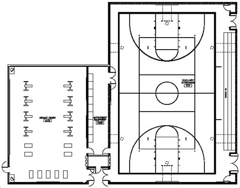 basketball gym floor plans facility kentridge auxiliary gym plan