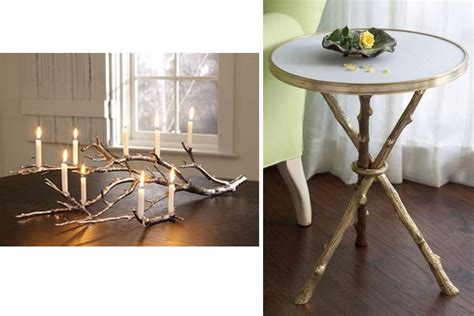 tree branch as part of home decor home