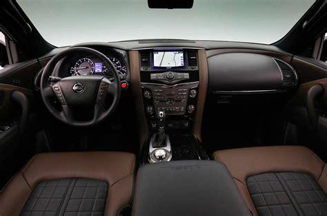 2017 nissan armada cloth interior 2018 nissan armada platinum reserve interior 01 motor trend