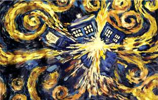 Dr Who Shower Curtain Doctor Who Van Gogh S Exploding Tardis Poster Gift Search