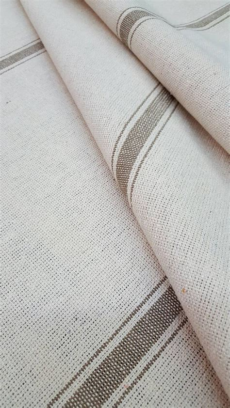 grain sack fabric upholstery grain sack fabric farmhouse cream fabric tan 3 stripe