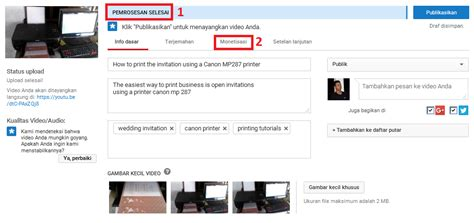 bagaimana cara upload video di youtube cara mudah upload video di youtube tutorial blogger