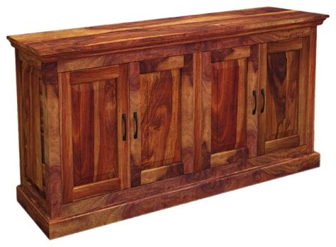 Oklahoma Rustic Solid Wood Dining Buffet Sideboard Server Solid Wood Sideboards And Buffets