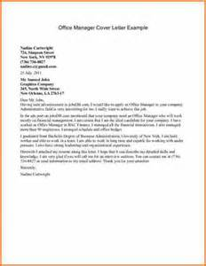Management Cover Letter by 9 Office Manager Cover Letter Budget Template Letter