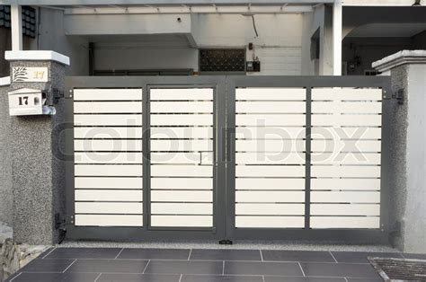 designs of gates of house modern design of house gate stock photo colourbox