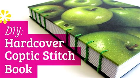 How To Make A Book Cover From A Paper Bag - diy hardcover coptic stitch bookbinding tutorial sea