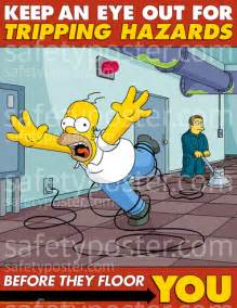 simpsons work posters office safety posters funny