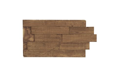 White Wash Wood Deconstructed Pallet Faux Wall Panels Interlock Texture