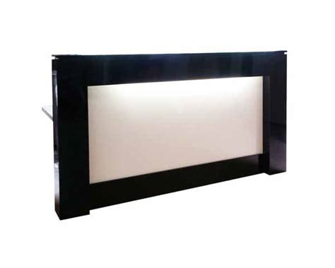 Black And White Desk by Black And White Reception Desk Or Counter With Light