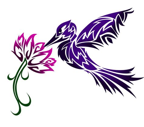 hummingbird tribal tattoo designs gallery designs by derek langley