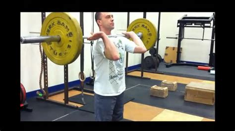 Clean Rack Position by How To Perform Power Cleans From The Hang Fast And