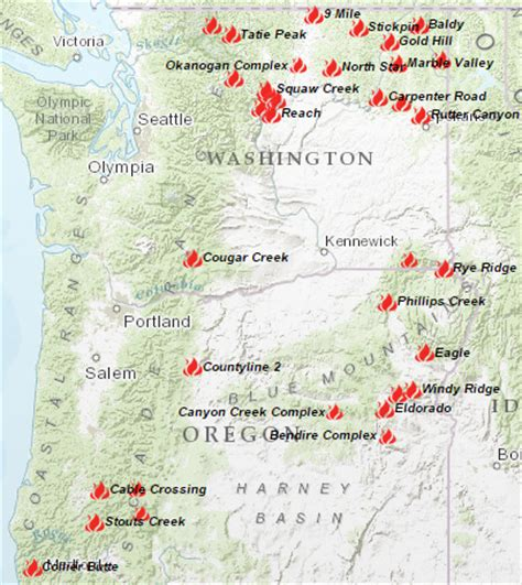 map of oregon 2015 fires wildfires continue to rage my columbia basin